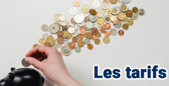les tarifs des différents prestations du Centre équestre et du Poney Club